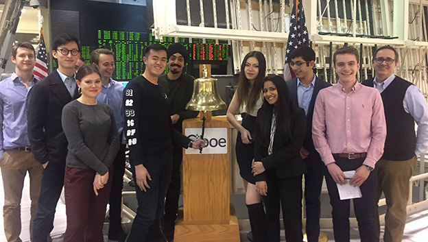 students at the CBOE bell